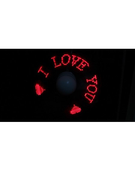 USB Powered Cooling Fan w/ Red LED Flashing Words