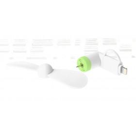 2-in-1 8-pin + Micro-USB Powered 2-Blade Mini Cooling Fan