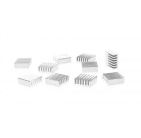 14*14*6mm Aluminum Heatsink (10-Pack)