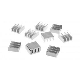 11*11*5mm Aluminum Heatsink (10-Pack)