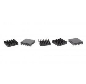 19*19*5mm Aluminum Heatsink (5-Pack)