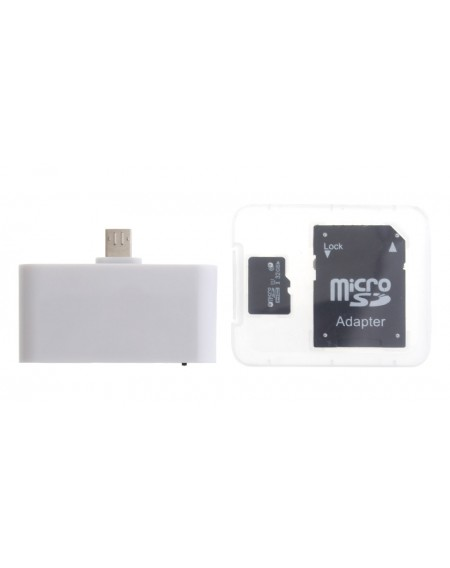 3-in-1 Micro-USB + OTG Combo Card Reader w/ Card Adapter