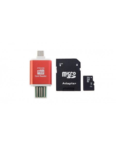 2GB microSD Memory Card w/ Card Adapter and 2-in-1 Card Reader