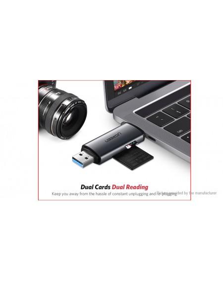 Authentic UGREEN CM185 USB-C + USB 3.0 MicroSD/SD OTG Card Reader