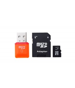 16GB microSDHC Memory Card w/ Card Adapter and Card Reader