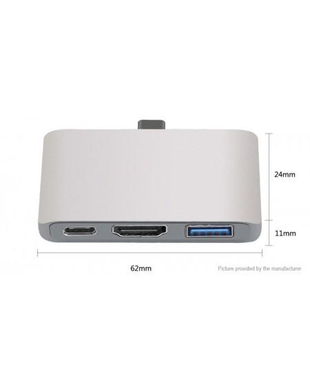 USB-C to USB-C + USB 3.0 + HDMI Converter Adapter